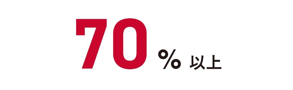 70%以上